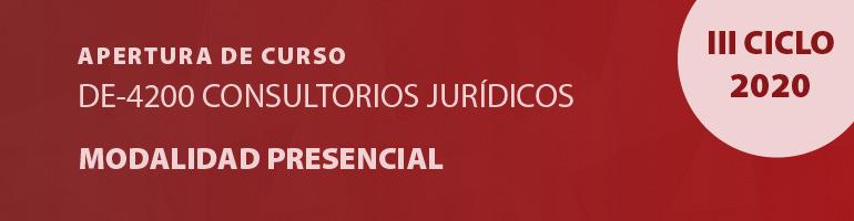 Apertura Curso DE-4200 Consultorios Jurídicos